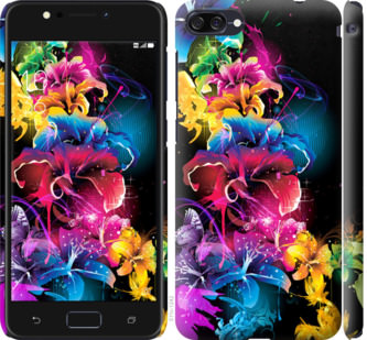 Чехол на Asus ZenFone 4 Max ZC554KL Абстрактные цветы