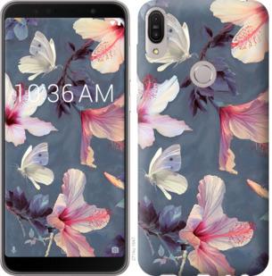 Чехол на Asus ZenFone Max Pro M1 ZB602KL Нарисованные цветы