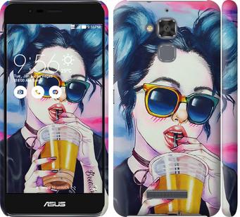 Чехол на Asus Zenfone 3 Max ZC520TL Арт-девушка в очках