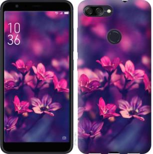 Чехол на Asus ZenFone Max Plus M1 ZB570TL Пурпурные цветы