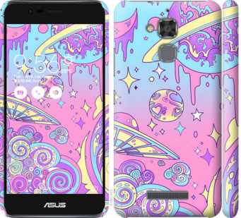 Чехол на Asus Zenfone 3 Max ZC520TL Розовая галактика