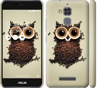 Чехол на Asus Zenfone 3 Max ZC520TL Сова из кофе