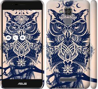 Чехол на Asus Zenfone 3 Max ZC520TL Узорчатая сова