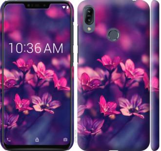 Чехол на Asus Zenfone Max M2 ZB633KL Пурпурные цветы