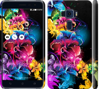 Чехол на Asus Zenfone 3 ZE520KL Абстрактные цветы