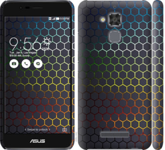 Чехол на Asus Zenfone 3 Max ZC520TL Переливающиеся соты