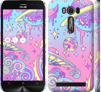 Чехол на Asus ZenFone 2 Laser ZE500KL Розовая галактика