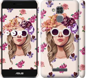 Чехол на Asus Zenfone 3 Max ZC520TL Девушка с цветами v2