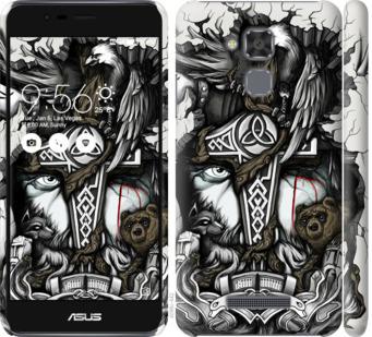 Чехол на Asus Zenfone 3 Max ZC520TL Тату Викинг