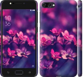 Чехол на Asus ZenFone 4 Max ZC554KL Пурпурные цветы