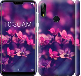 Чехол на Asus Zenfone Max Pro M2 ZB631KL Пурпурные цветы