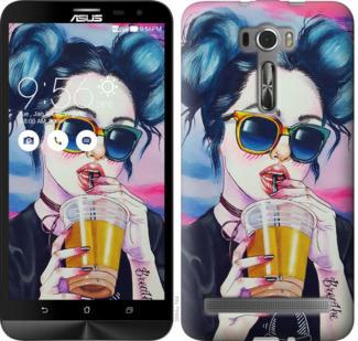 Чехол на Asus ZenFone 2 Laser ZE601KL Арт-девушка в очках