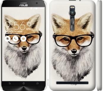 Чехол на Asus Zenfone 2 ZE551ML Лис в очках