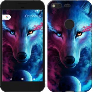 Чехол на Google PixeL 2 XL Арт-волк