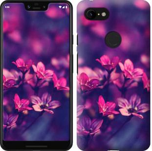 Чехол на Google Pixel 3 XL Пурпурные цветы