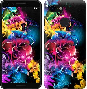 Чехол на Google Pixel 3 Абстрактные цветы