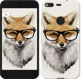 Чехол на Google PixeL 2 XL Лис в очках