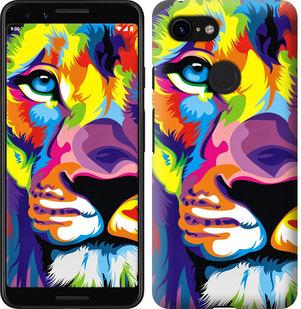 Чехол на Google Pixel 3 Разноцветный лев