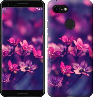 Чехол на Google Pixel 3 Пурпурные цветы
