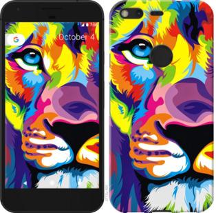 Чехол на Google PixeL 2 XL Разноцветный лев
