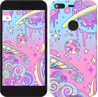 Чехол на Google PixeL 2 XL Розовая галактика