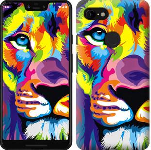 Чехол на Google Pixel 3 XL Разноцветный лев