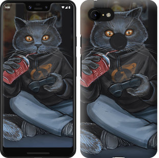 Чехол на Google Pixel 3 XL gamer cat