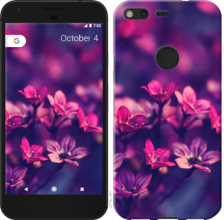 Чехол на Google PixeL 2 XL Пурпурные цветы