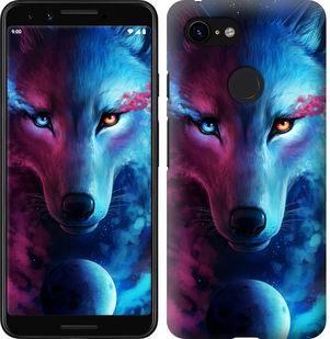 Чехол на Google Pixel 3 Арт-волк