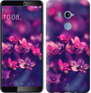 Чехол на HTC U11 Plus Пурпурные цветы