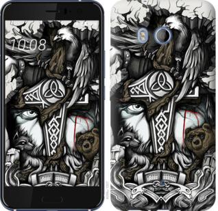 Чехол на HTC U11 Тату Викинг