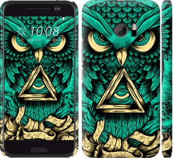 Чехол на HTC 10 Сова Арт-тату