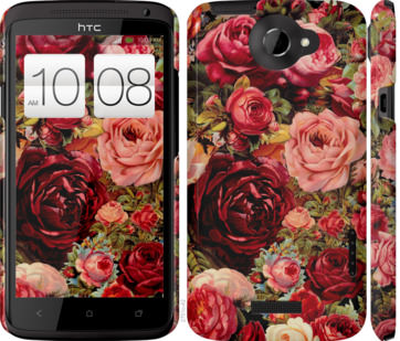 Чехол на HTC One X Цветущие розы