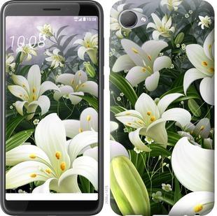 Чехол на HTC Desire 12 Белые лилии