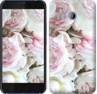 Чехол на HTC U11 Пионы v2