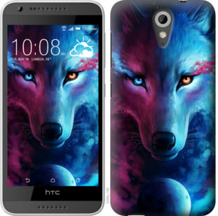 Чехол на HTC Desire 620G Арт-волк