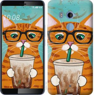 Чехол на HTC U11 Plus Зеленоглазый кот в очках