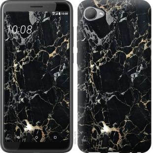 Чехол на HTC Desire 12 Черный мрамор
