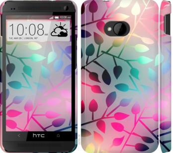 Чехол на HTC One M7 Листья