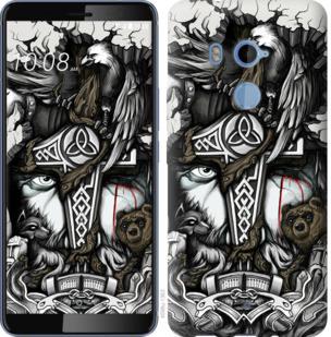 Чехол на HTC U11 Plus Тату Викинг