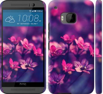 Чехол на HTC One M9 Пурпурные цветы
