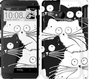 Чехол на HTC One M7 Коты v2