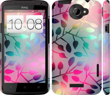 Чехол на HTC One X Листья