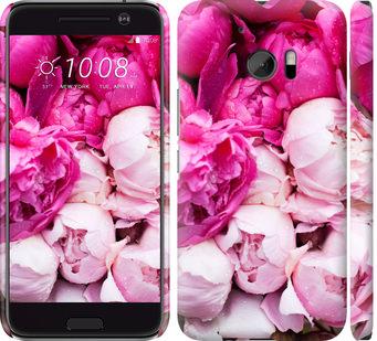 Чехол на HTC 10 Розовые пионы