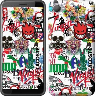 Чехол на HTC Desire 12 Many different logos