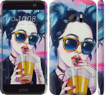 Чехол на HTC 10 Арт-девушка в очках
