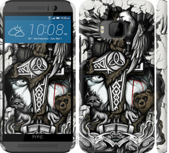Чехол на HTC One M9 Тату Викинг