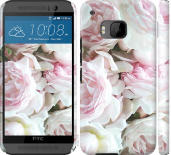 Чехол на HTC One M9 Пионы v2