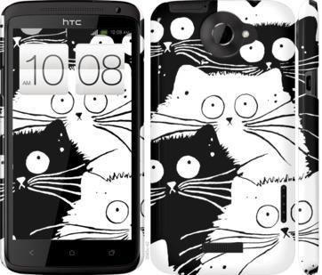 Чехол на HTC One X Коты v2