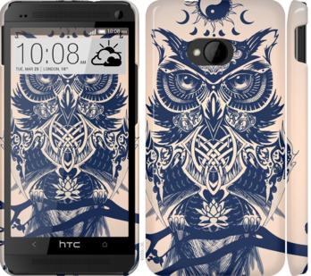 Чехол на HTC One M7 Узорчатая сова